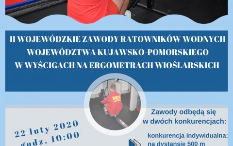 II Wojewódzkie Zawody Ratowników Wodnych Województwa Kujawsko-Pomorskiego w wyścigach na ergometrach wioślarskich